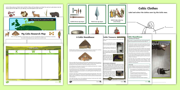 The Celts Resource Pack - CfE, Celts, celtic, history, people in past societies, social studies, Scotland,scottish