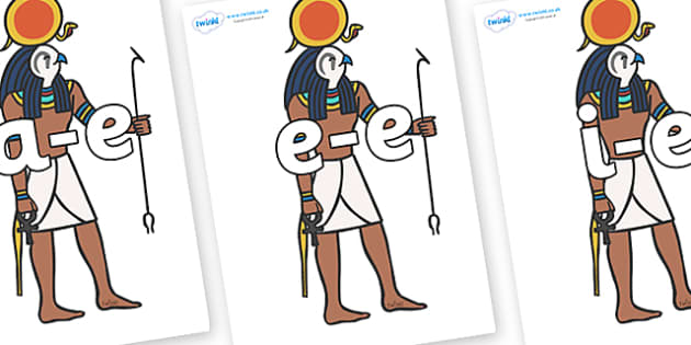 Modifying E Letters on Egyptian Figures - Modifying E, letters, modify, Phase 5, Phase five, alternative spellings for phonemes, DfES letters and Sounds