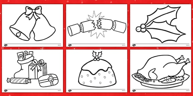 Christmas Themed Colouring Sheets - christmas, colouring