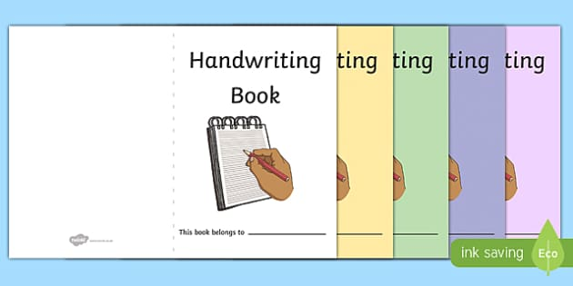 Handwriting Book Covers - handwriting, writing, book cover, covers, cover sheet, letters, literacy