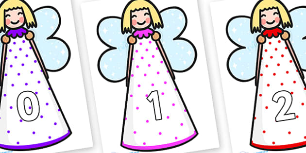 Numbers 0-50 on Christmas Angels - 0-50, foundation stage numeracy, Number recognition, Number flashcards, counting, number frieze, Display numbers, number posters