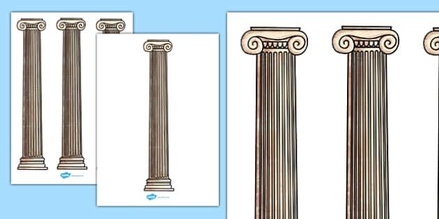 Ancient Greece Column Cut-Outs - ancient greece, column, cut outs, cut-outs, cut, outs, display