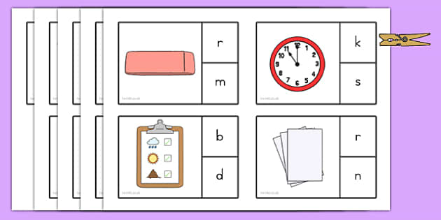 Back to School Final Letter Peg Matching Game