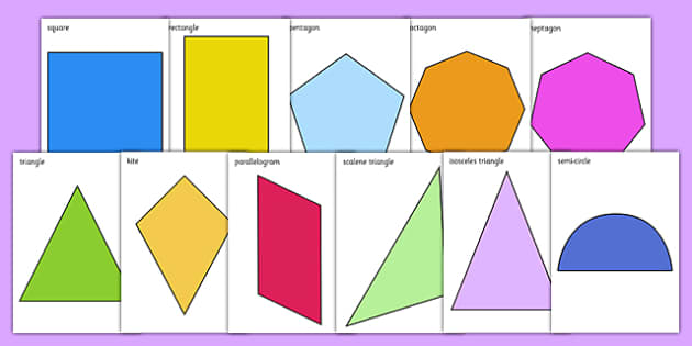 2D Shapes Primary Resources, spaces, measures, shape - Page 1