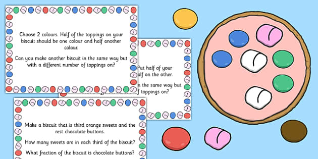 Decorating Biscuit Fractions - decorating, biscuit, fractions, maths, numeracy