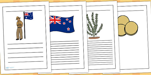 Anzac Day Handwriting Lines - anzac day, war, hand writing, write