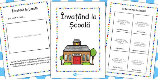Invatand la Scoala, brosura elevului nou , Romanian
