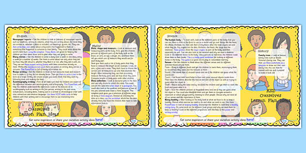 Ourselves Lesson Plan Ideas KS2 - ourselves, KS2, lesson plan