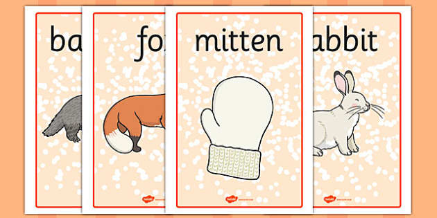 The Mitten Display Posters - the mitten, story, display posters, display