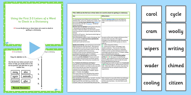 Use First 2 3 Letters of a Word to Check in Dictonary Teach Ideas