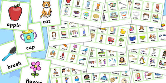 First Word Cards - first word, cards, first, word cards, word