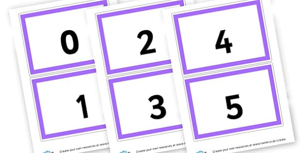 0-20 Numerals - Numbers 0-20 Primary Resources, number lines, numberlines, count