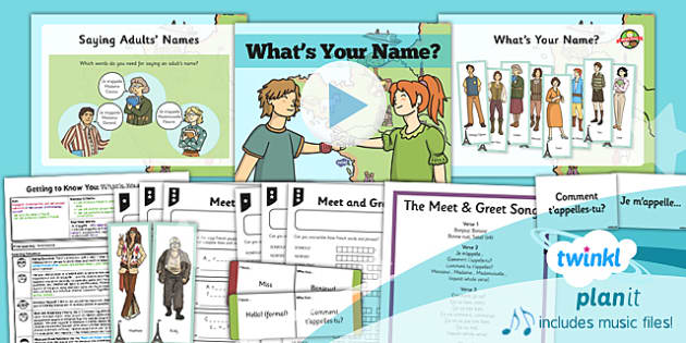 PlanIt - French Year 3 - Getting to Know You Lesson 2: What's Your Name? Lesson Pack