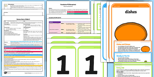 Foundation PE (Reception) - Games - Best of Balls Lesson pack 2: Roll it Throw it - EYFS, PE, Physical Development, Planning