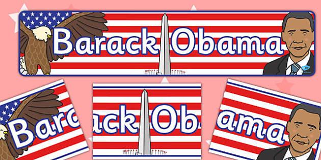 Barack Obama Display Banner - display, banner, barack obama