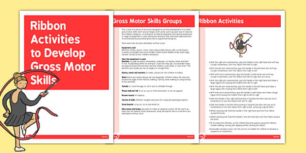 Ribbon Gross Motor Skills Activities - gross motor, activities