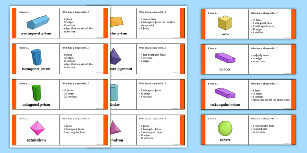 3D Shape Properties Loop Cards - 2d shape, 3d, shape, properties, loop cards, loop, cards, activity, maths, mathematics