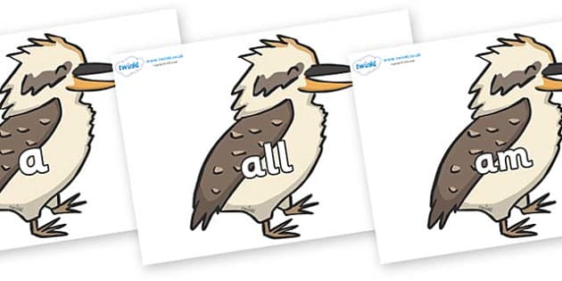 Foundation Stage 2 Keywords on Kookaburras - FS2, CLL, keywords, Communication language and literacy,  Display, Key words, high frequency words, foundation stage literacy, DfES Letters and Sounds, Letters and Sounds, spelling
