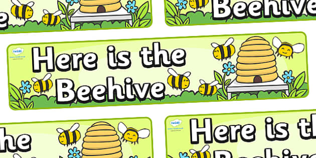 Here is the Beehive Display Banner - Here is the Beehive, nursery rhyme, rhyme, rhyming, nursery rhyme story, nursery rhymes, Here is the Beehive resources