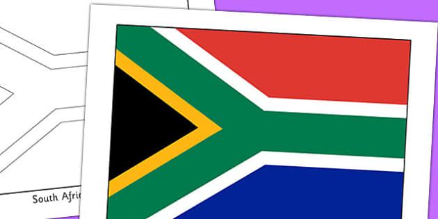 South Africa Flag Display Poster - countries, geography, flags