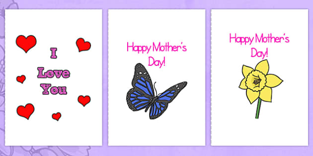 Mothers Day Card Templates (A4 Full) - Mother's day blank card templates, design, Mother's day card, Mother's day cards, Mother's day activity, Mother's day resource, card, card template