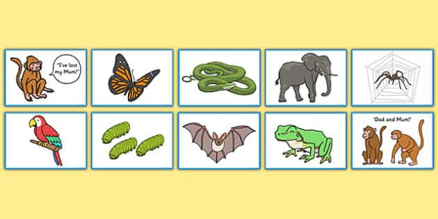Monkey Puzzle Matching Game - monkey, puzzle, matching, game