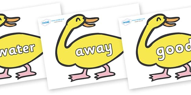 Next 200 Common Words on Yellow Duck to Support Teaching on Brown Bear, Brown Bear - Next 200 Common Words on  - DfES Letters and Sounds, Letters and Sounds, Letters and sounds words, Common words, 200 common words