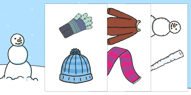 Winter Threading Cut Outs - threading cards, fine motor skills, activities, junior infants, senior infants, early years, foundat