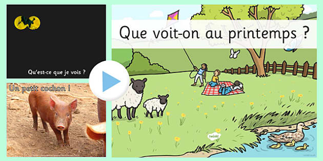 Spring What Can You See PowerPoint French - french, spring, powerpoint, senses