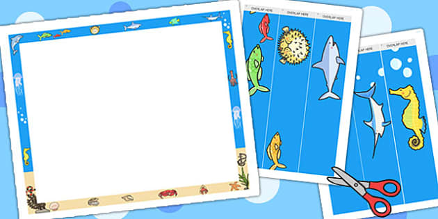 Under The Sea Themed Display Border Scene Pack - story books