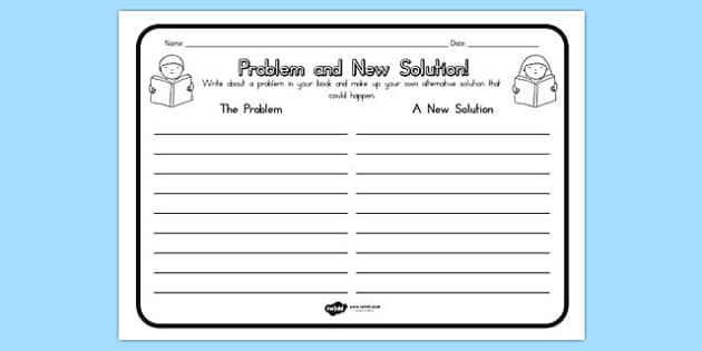 Problem and New Solution Comprehension Worksheet - australia