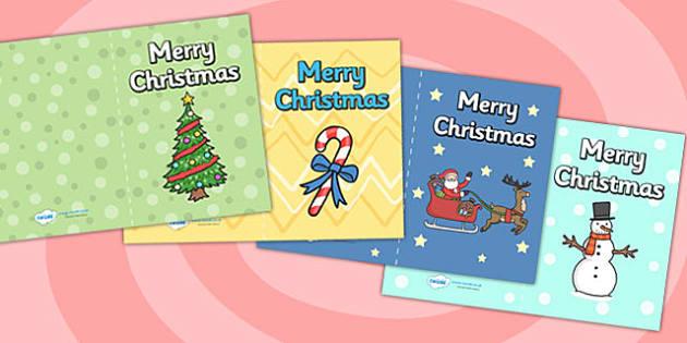 Christmas Card Templates - christmas, ks1, EYFS, cards