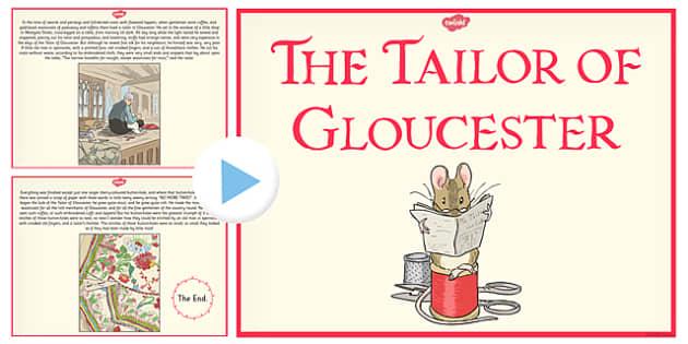 The Tailor of Gloucester PowerPoint - tailor, gloucester, powerpoint