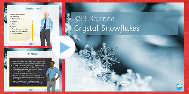 KS3 Science Christmas Resources crystal snow flakes Activity