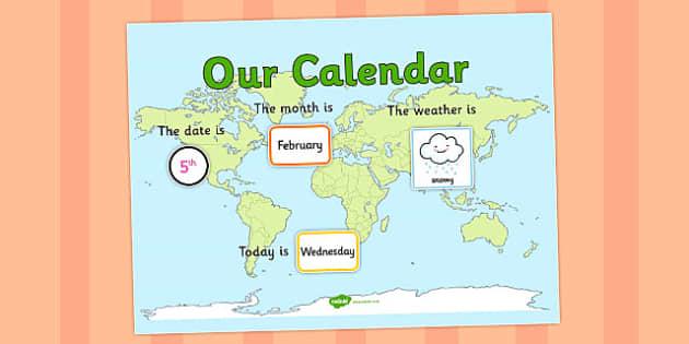Countries Themed Display Calendar - countries, themed, calendar, display