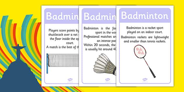 Rio 2016 Olympics Badminton Display Facts - rio 2016, 2016 olympics, rio olympics, badminton, display facts, display, facts