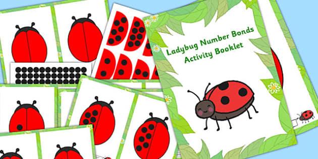 Ladybug Number Bonds Activity Booklet - ladybug, bonds, booklet