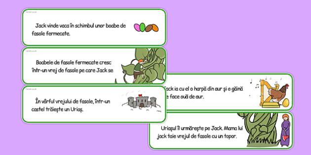 Jack și vrejul de fasole - Decupează și ordonează cronologic