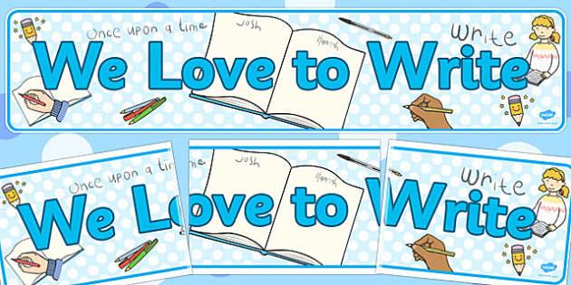 We Love to Write' Display Banner - display, banner, write, love