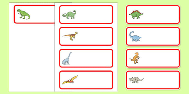 Editable Drawer - Peg - Name Labels (Dinosaurs) - Classroom