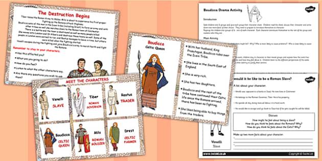 Boudicca Drama Activity Lesson Teaching Pack Flipchart - boudicca