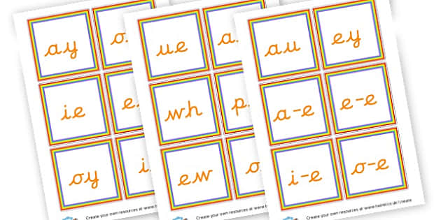 Phase 5 Sounds Cards - Phase 5 Phonemes Primary Resources, Phase One, Letters, sounds