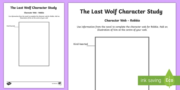 Robbie Character Web to Support Teaching on The Last Wolf by Michael Morpurgo  - CfE, novel study, Michael Morpurgo, The Last Wolf, reading activity, character study,comprehension,