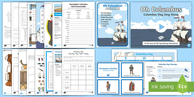 Columbuis Day Bumper Resource Pack-Australia - Columbus Day, Christoper Columbus,Australia