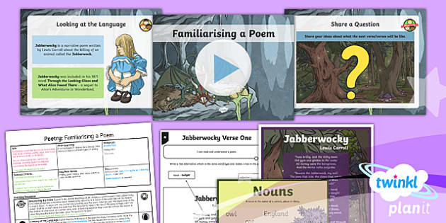 PlanIt Y5 Animals: Jabberwocky Lesson Pack Poetry (1)