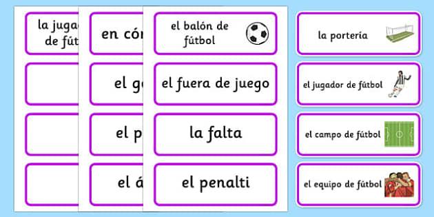 Tarjetas de vocabulario: Las Olimpiadas de fútbol - tarjetas, vocabulario, fútbol, olimpiadas