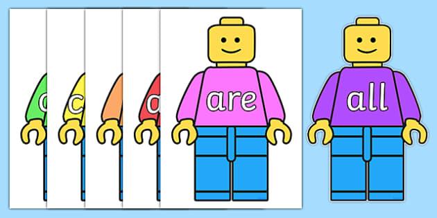 Tricky Words on Building Brick Man - Tricky words, DfES Letters and Sounds, Letters and sounds, display, words