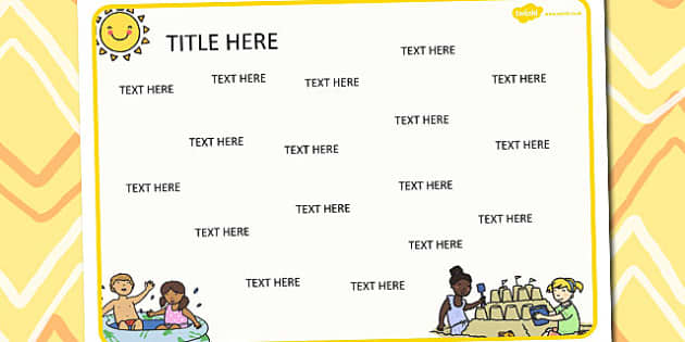 Summer Themed Editable Word Mat - literacy, words, writing, mats