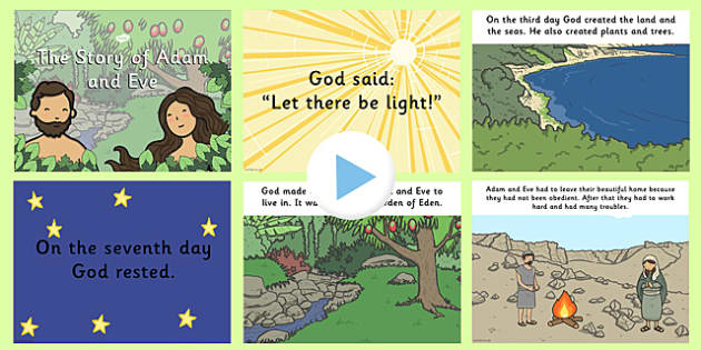 Adam and Eve Story PowerPoint - adam and eve, adam and eve powerpoint, story of adam and eve, bible stories, bible story powerpoints, christianity, bible, bible stories, kindergarten, elementary, usa