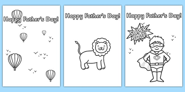 Father's Day Card Template (Colouring) - Design, father's day card, father's day cards, father's day activity, father's day resource, card, card template,  colouring, fine motor skills